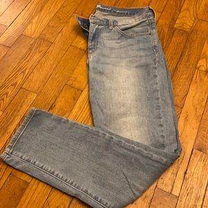 Eddie Bauer boyfriend fit ankle jeans